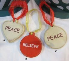 Christmas Tree Decorations - Circle/Heart